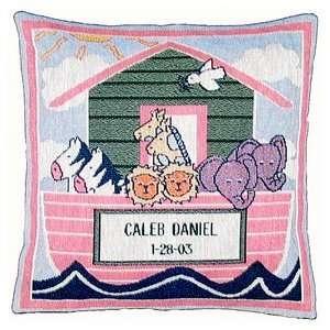 Noahs Ark Tapestry Pillow Baby