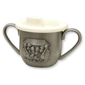 Noahs Ark Pewter Finish Baby Cup w/Plastic Lid Jewelry