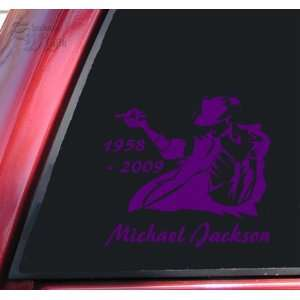 Michael Jackson 1958   2009 Vinyl Decal Sticker   Purple