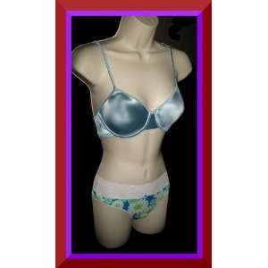 com Victorias Secret Second Skin Satin 36B Bra Set Everything Else