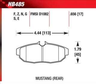 Hawk HPS Brake Pads HB485F.656 07 09 Ford Shelby GT500