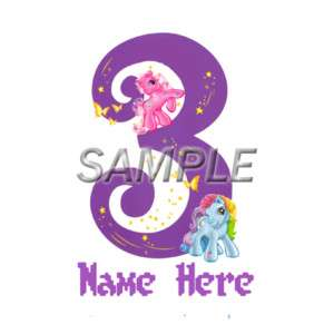 MY LITTLE PONY 3RD BIRTHDAY IRON ON TRANSFER 3 SIZES
