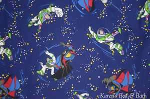 Buzz Lightyear Battle Zurg Toy Story Curtain Valance