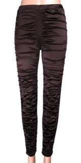 WOMENS Leggings NWT Stretch Satin Shiny Pants 5 COLORS