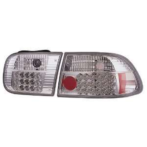 1992 1995 Honda Civic 3DR IPCW L.E.D Tail Lights (Crystal