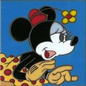 Mouse Disney Fine Art Ceramic Tile by Allyson Vought Home & Kitchen