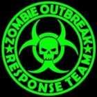 12 inch Zombie Outbreak Response Team Vinyl Decal