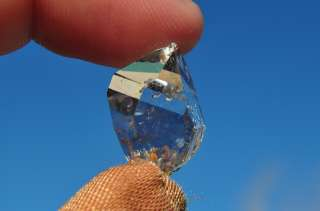 20mm Herkimer diamond quartz crystal (New York) 19.20ct 3.84grams Gem
