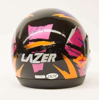 Vintage Lazer LZR Full Face Bk/Mau/Or Helmet XL (0542)