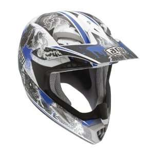 MT X Evolution Blue Off Road Motorcycle Helmet Large AGV SPA   ITALY
