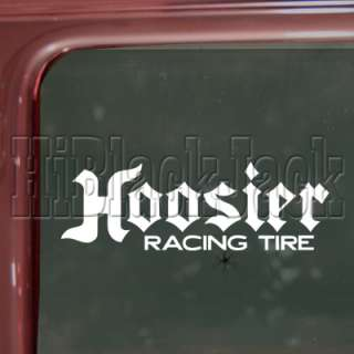 HOOSIER TIRE Decal Car Truck Bumper Window Sticker