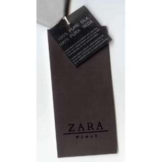 NWT $55 ZARA Silk Shirt Grey Gray L Large New