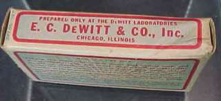 Vintage DeWitts ManZan Box Rectal Irritation Ointment E. C. DeWitt