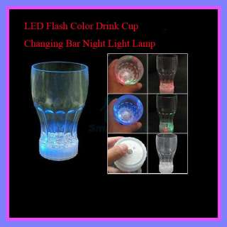 New LED Flashing Plastic Wine Drink Cup Night Light Lamp Party Cup M