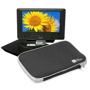 Dual Zip Portable DVD Player Carry Case For Xoro HSD 7790 Electronics