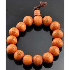 Prayer Beads Wrist Mala and a Copyrighted Tibetan Buddha Eye Magnet