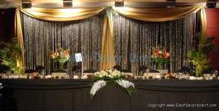 Wedding Backdrop Kit w/Pipe, Drape & Valence: 2 PANEL 8 14ft TALL