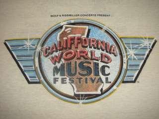 RARE VINTAGE CALIFORNIA WORLD MUSIC FESTIVAL SHIRT 1979