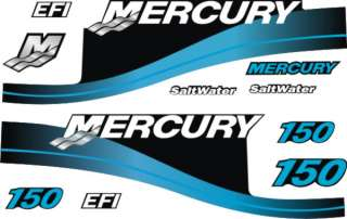 Mercury outboard motor cowl decals stickers graphics