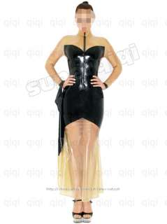 100% Latex/rubber .4mm full length Dress suit catsuit gothic fashion