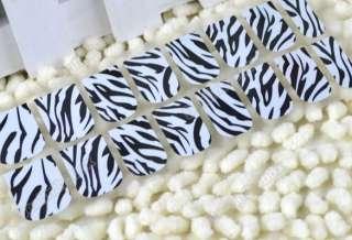 16x 8pcs Nail Art Sticker Colorful Patch Foils Armour wraps Decoration