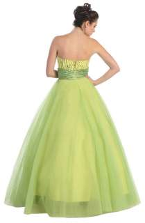 Sweet 16 New Strapless Quincenera Prom Homecoming Winter Ball Long