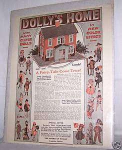 1930S ERA DOLLY HOUSE PAPER DOLL AD AMERICAN WOMAN OLD