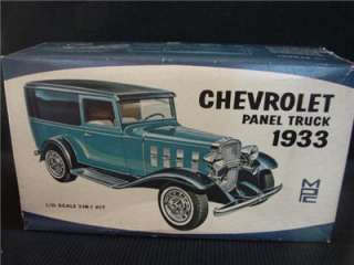 VINTAGE MPC 1933 CHEVROLET PANEL TRUCK MODEL KIT