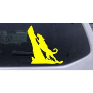 Coon Hunting Dog Barking up Tree Hunting And Fishing Car Window Wall