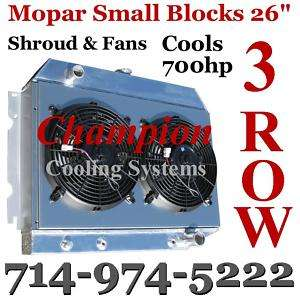 Row Champion Radiator 1968 1974 Dodge Plymouth Cars