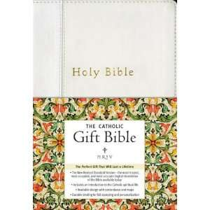 NRSV   The Catholic Gift Bible (White, Imitation Leather