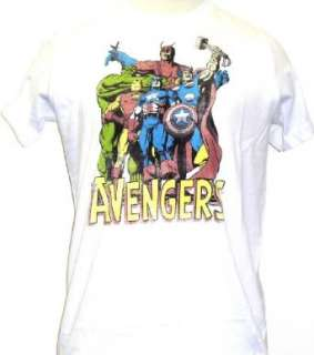 The Avengers Marvel Comics Mens White Vintage T shirt