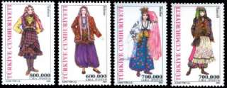TURKISH STAMPS 2004, TURKISH WOMEN TRADITIONAL DRESSES, MNH