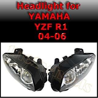Headlight Headlamp for Yamaha R1 2004 2005 2006 Clear
