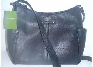 NEW Kate Spade Black Leather Yardley Nicole Crossbody