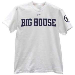 Nike Michigan Wolverines White Local Big House T shirt