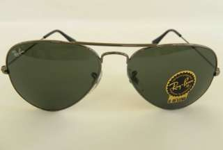 RAY BAN RB 3025 W3236 GUNMETAL LARGE METAL AVIATOR