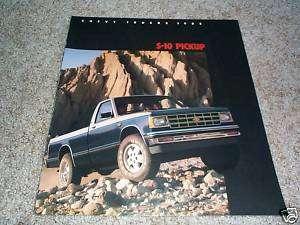 1985 Chevrolet S 10 Pickup Truck Brochure Tahoe/Durango