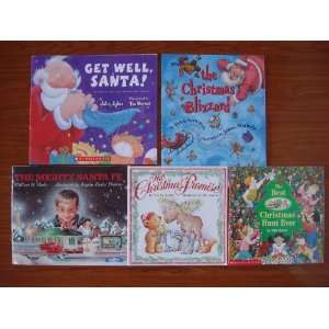 Picture Books Set of 5 (Get Well, Santa ~ The Christmas Blizzard