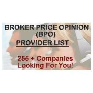 Top broker price opinion companies
