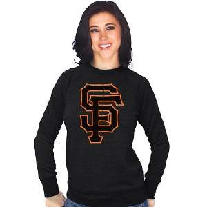 San Francisco Giants Womens Tri blend Raglan Sweatshirt by Majestic