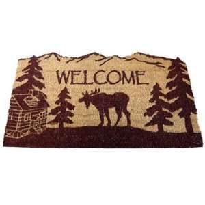 MOOSE lodge COIR DOORMAT welcome MAT rug porch NEW Patio