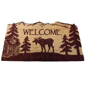 MOOSE lodge COIR DOORMAT welcome MAT rug porch NEW Patio