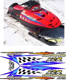 POLARIS INDY XCR 800 , 1999 , HOOD DECALS graphics
