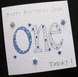 Personalised Handmade Birthday Card Girl Boy 1st,2nd,3rd,4th,5th,6th
