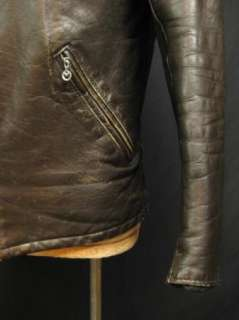 Vintage 60s Schott Perfecto Cafe Racer Brown Leather Motorcycle