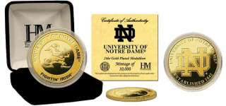Notre Dame Fighting Irish 24KT Gold Commemorative Coin