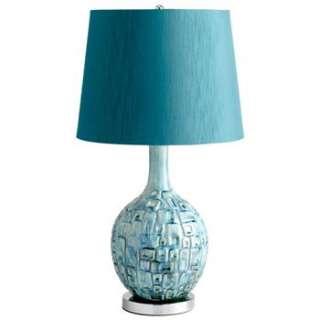 Jordan Aqua Turquoise Blue Modern Table Lamp