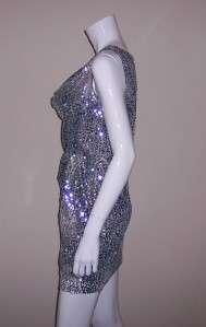Sequin Sleeveless Cowl Neck Dress Size 4 2561 797532721922