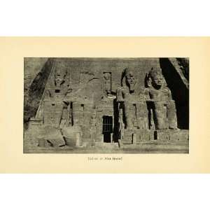 1931 Print Abu Simbel Temple Statues Ancient Egyptian